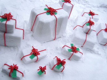 Wrapping Gifts in Snow