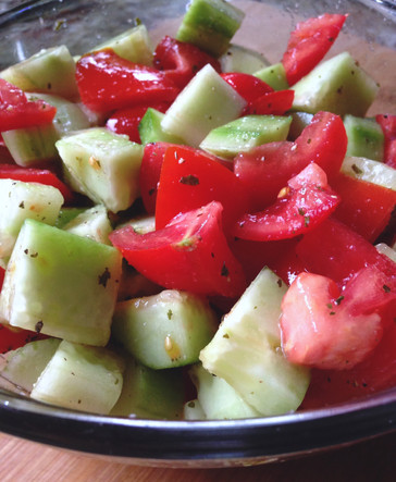 5 Minute Cucumber/Tomato Salad!