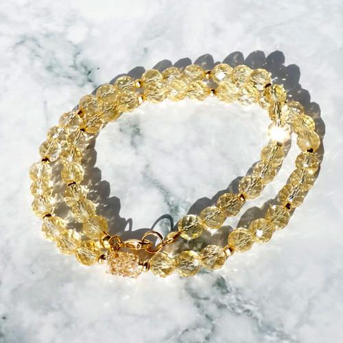 Ожерелье с цитринами