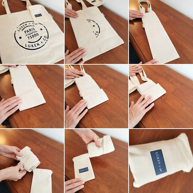 How to fold the Luken + Co Foldable Tote