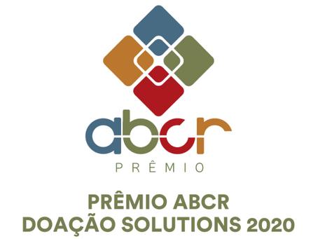 Inscrições abertas para o Prêmio ABCR Doação Solutions 2020