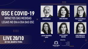 OSC e COVID-19: impactos das medidas legais no dia a dia das OSC