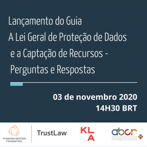 Participe do lançamento do Guia A LGPD e a Captação de Recursos – Perguntas e Respostas