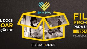 Está no ar a campanha Social Docs no Dia de Doar!