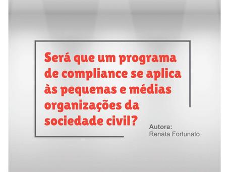 O compliance se aplica às pequenas e médias organizações da sociedade civil?