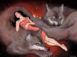 śpiąca z wilkami