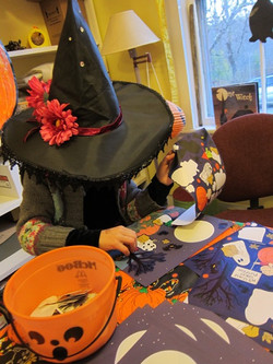 A witch at the craft table