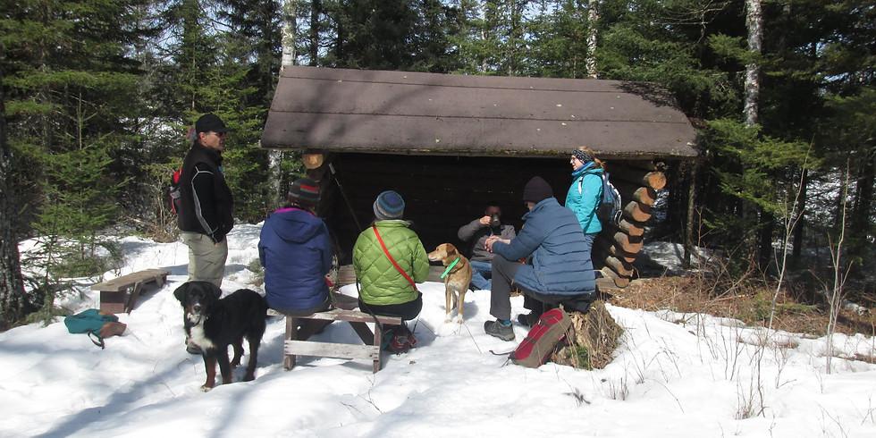 Day Hike/Snowshoe and Campfire at Bird Lake Near Hoyt Lakes,MN