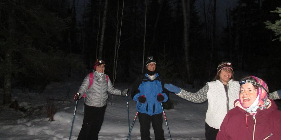 Moonlight Snowshoe/Hike Near Hoyt Lakes