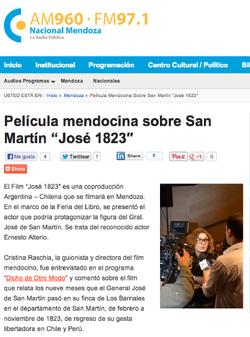 Nota en Radio Nacional