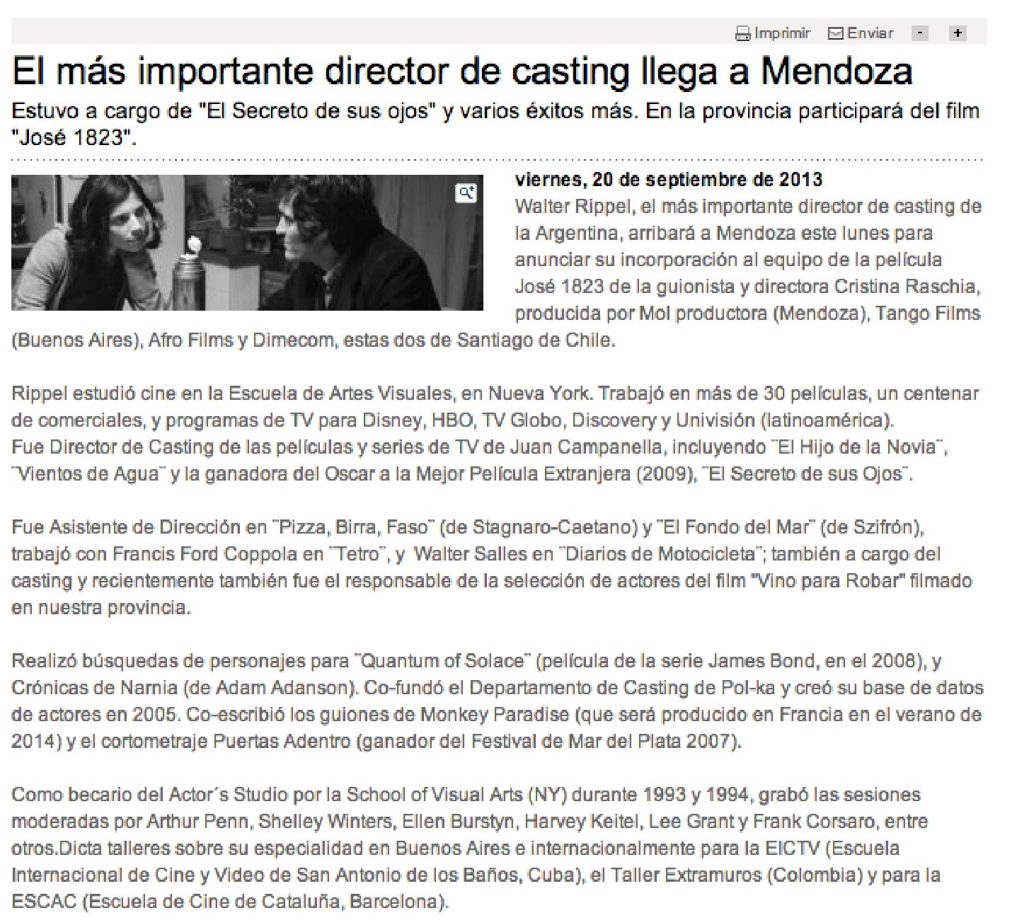 Nota en Diario Los Andes