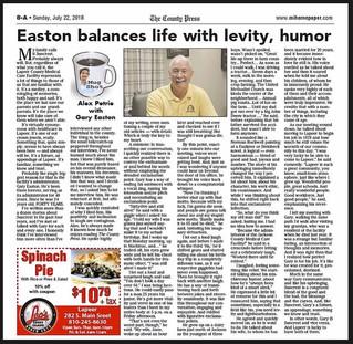 Easton Balances Life with Levity, Humor