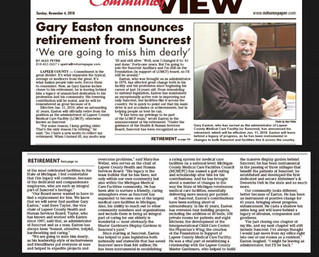 Gary Easton Announces Retirement from Suncrest