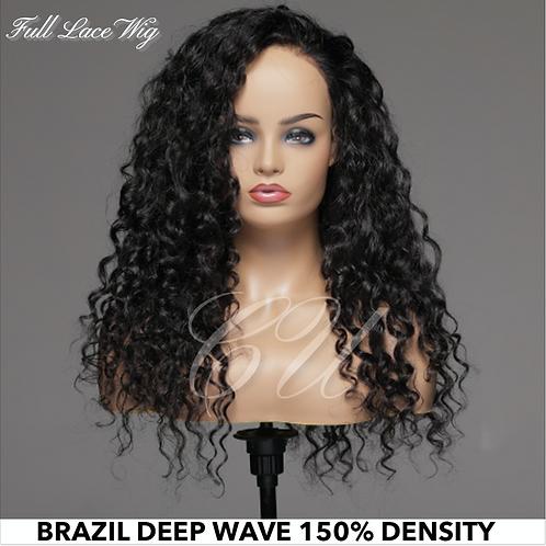 Full Lace Brazilian Deep Wave Wig