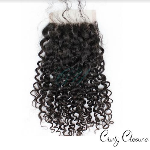 Brazilian Curly  Closure (4x4)
