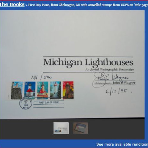 First Day Issue: from Cheboygan, MI with cancelled stamps from USPS