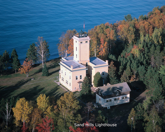 Sand Hills Lighthouse in the Spring of the year