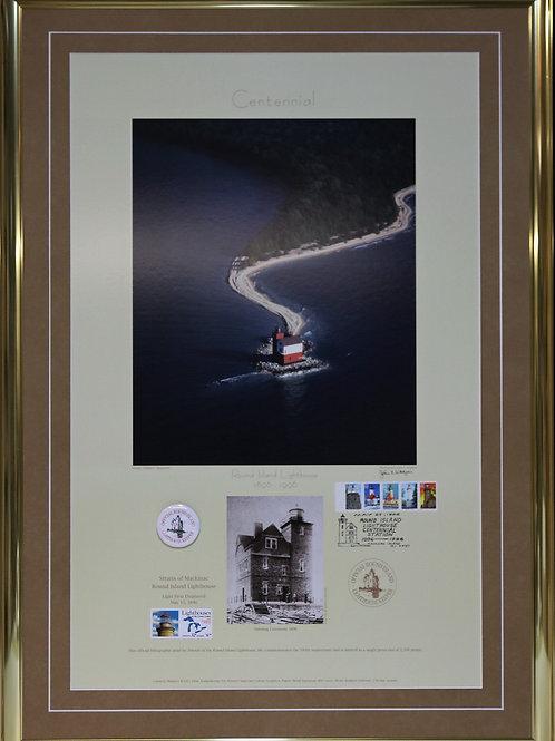 Round Island Lighthouse Centennial Poster