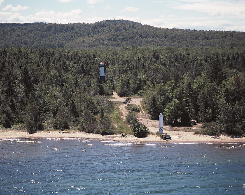 Grand Island Harbor West Channel (rear range) Lighthouse