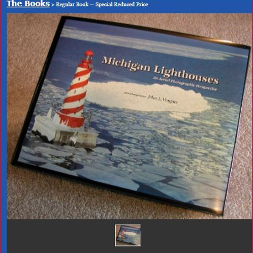"""Standard Book: """"Michigan Lighthouses, An Aerial Photographic Perspective"""""""