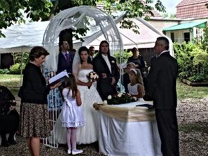 Svatební obřad v Hotelu Svornost - Praha 9 Počernice.