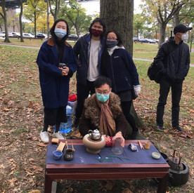 Gongfu Tea outdoors with New York Tea Society