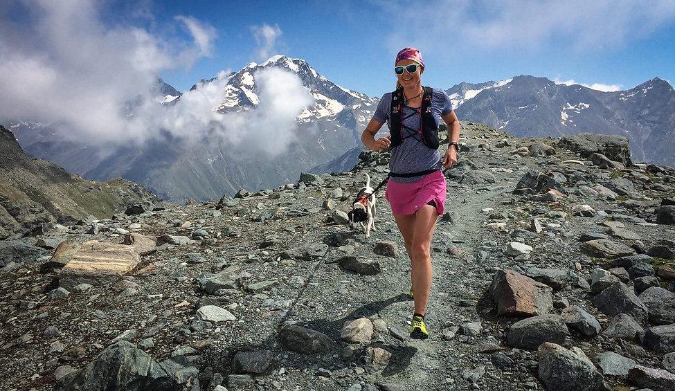 trail running glacier trail