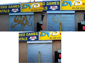 Graffiti Removal from Security Shutters