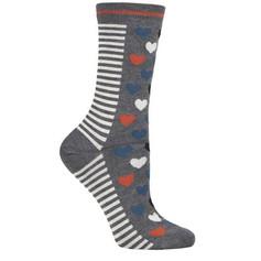 Grey Heart Socks £6.99