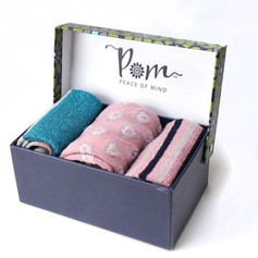 Multi Pink Socks: Set of 3 £21.99