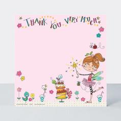 Rachel Ellen Pink Fairy Notecards £4.50