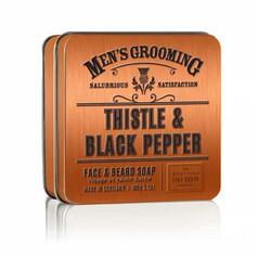 Thistle & Black Pepper Face & Beard Soap £6.99