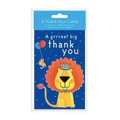 Lion/Crocodile Thank you Cards £3.50