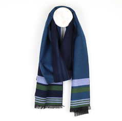 Peace of Mind Navy Mix Striped Scarf £12.99