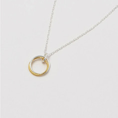 EB 'Believe in yourself' Double Gold and Silver Circle Necklace £21.99