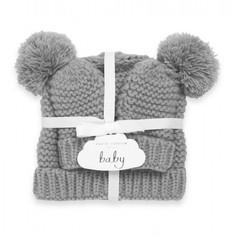 Grey Knitted Bobble Hat & Gloves Set 19.99
