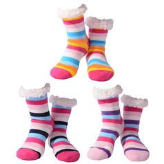 Nuzzles striped ladies slipper socks £7.99
