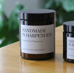 Handmade in Harpenden Raspberry & Peppercorn Candle