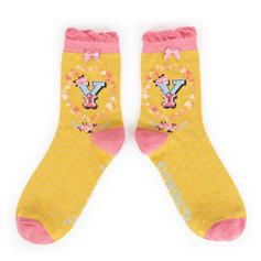 BACK IN STOCK SOON Alphabet Socks: 'Y' £7.99