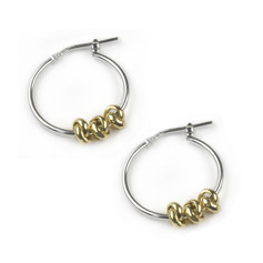 OUT OF STOCK Tales From the Earth 3 Knot Gold Hoops £29.99