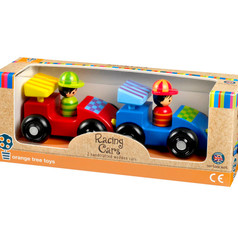 Two Wooden Racing Cars £13.99