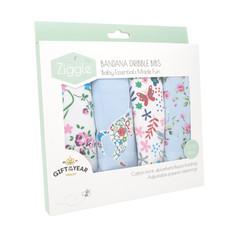 Floral Set of 4 Bandana Dribble Bibs £12.99