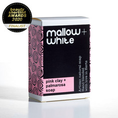 OUT OF STOCK Mallow & White Pink Clay & Palmarosa Soap £7.99
