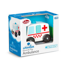 Wooden Sound & Play Ambulance £9.99
