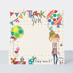 Rachel Ellen Girl & Presents Thank You Notecards £4.50