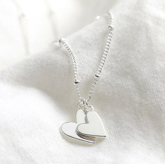 Lisa Angel Silver Hearts Necklace £16.99