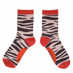 Powder Zebra Ankle Socks £7.99