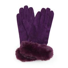 Plum Suede Gloves £12.99
