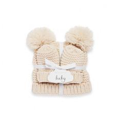 Cream knitted Bobble Hat & Gloves set £19.99