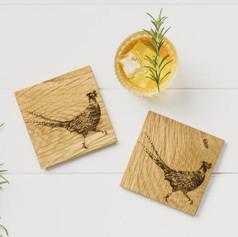 Oak Pheasant Coasters £16.99